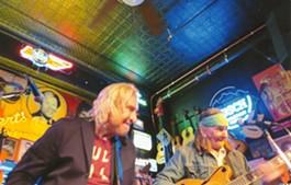 Joe Walsh (left) and Glenn Schwartz jamming in Nashville. - BOBBY SOUTHALL