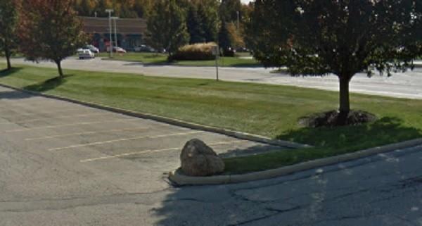 The rock, seen here in the shade. - SCREENSHOT VIA GOOGLE MAPS