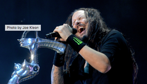 Korn performing at Blossom in 2016.