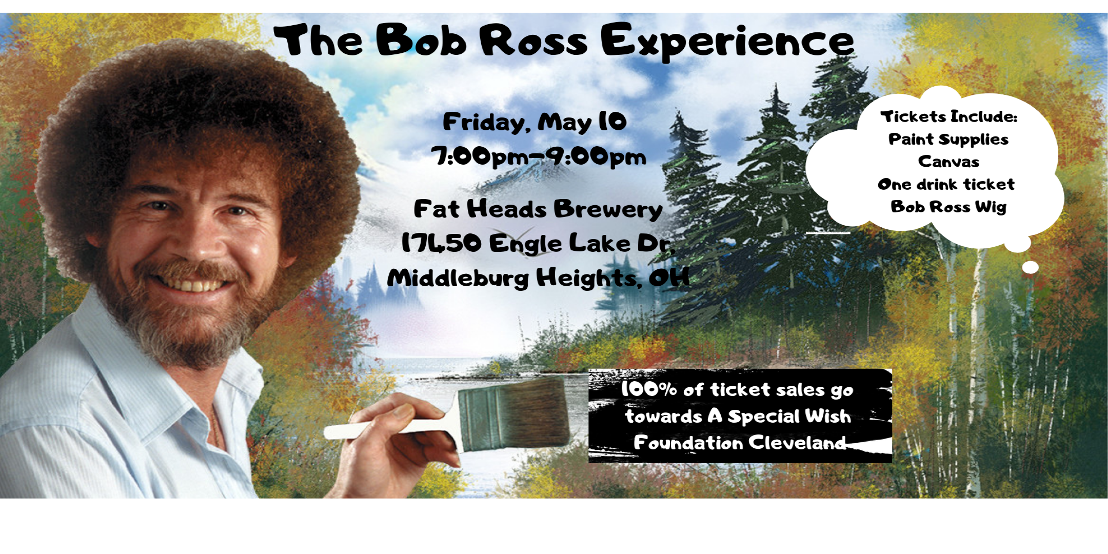 Update: Fat Head's Brewery to Host a Second Bob Ross