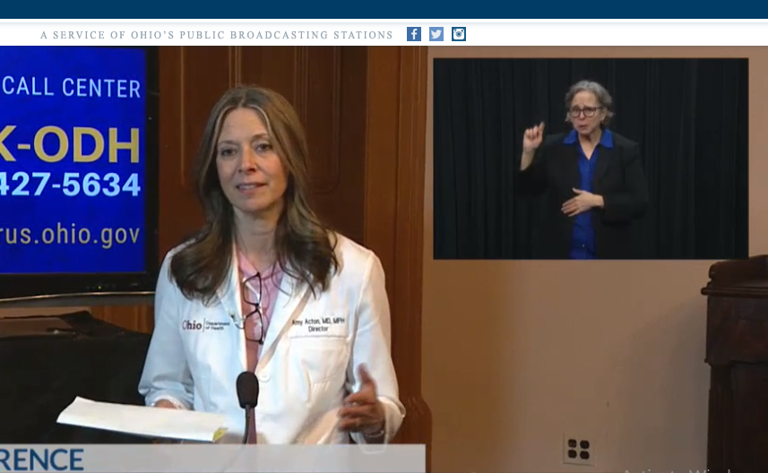 Dr. Amy Acton (3/26/20). - OHIOCHANNEL.ORG