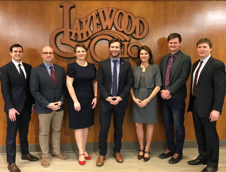 Lakewood City Council, from L to R: Jason Shachner, John Litten, Sarah Kepple, Dan O'Malley, Tess Neff, Tristan Rader, Tom Bullock - CITY OF LAKEWOOD