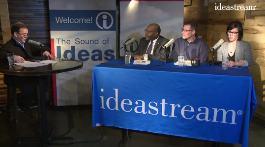 Mike McIntyre, (former host of Sound of Ideas and now Ideastream's Executive Editor), taking his show on the road. - IDEASTREAM