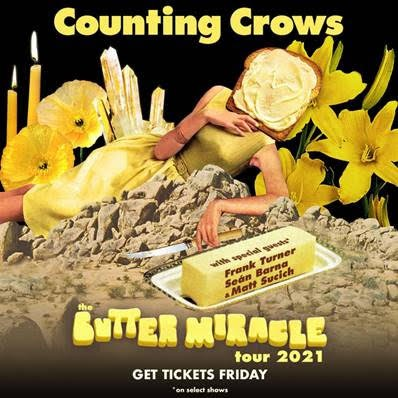 Poster art for the upcoming Counting Crows tour.