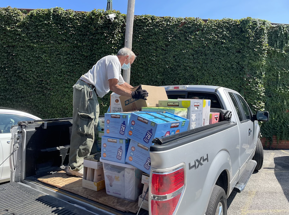 A donation drive rounded up plenty of supplies in recent weeks - COURTESY U.S. COMMITTEE FOR REFUGEES AND IMMIGRANTS