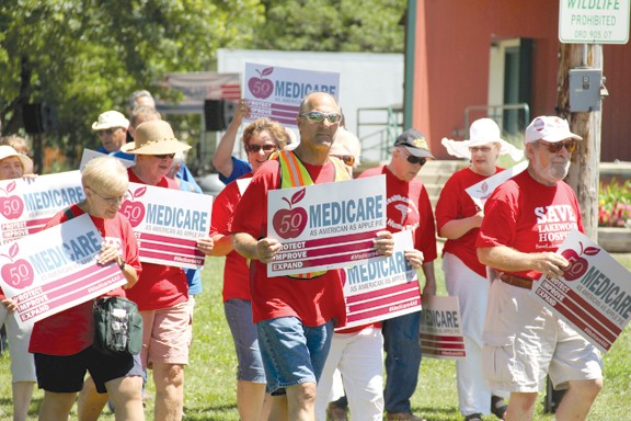 LAKEWOOD RESIDENTS CELEBRATE THE 50TH ANNIVERSARY OF MEDICARE ON JULY 30.