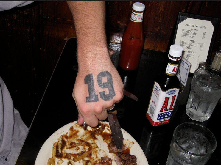 Dana Depew's No. 19 tattoo - PAUL LUKAS