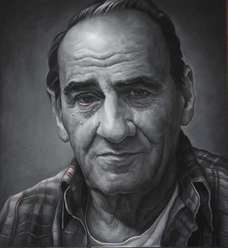 Mark Giangaspero's Dad I. 2011, Pastel on paper 44 x 41.