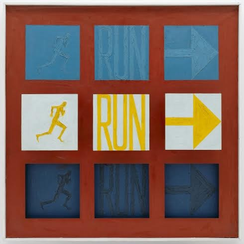 Run I, 1962. Sol LeWitt (American, 1928–2007). Oil on canvas and wood; 63 1/2 x 63 1/2 x 3 1/2 in. LeWitt Collection, Courtesy Pace Gallery, New York. © 2015 The LeWitt Estate / Artists Rights Society (ARS), New York.