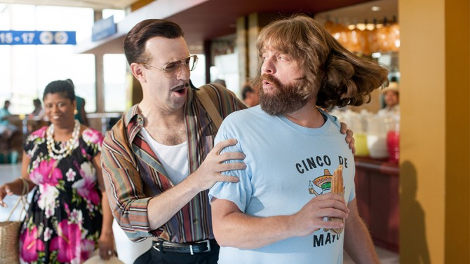 Jason Sudeikis and Zack Galifianakis in Masterminds