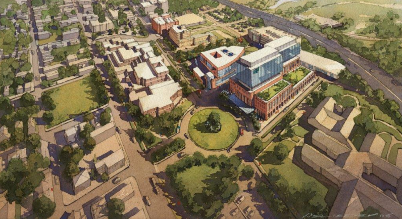 Artist's rendering of the MetroHealth campus on W. 25th Street. - COURTESY: METROHEALTH