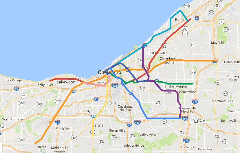 Another Really Cool Imaginary Regional Transit Map For Northeast - Map ohio