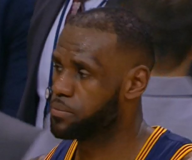 Sometimes LeBron looks soooo tired...