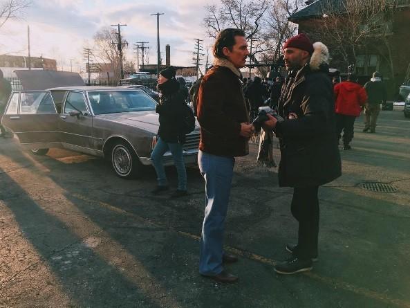 "Matthew McConaughey filming ""White Boy Rick."" - PHOTO VIA MARIEWIN/INSTAGRAM"