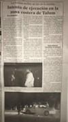 "Por Esto: ""Execution Attempt in the Coastal Area of Tulum"""