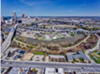 Overhead view of Irishtown Bend, that could soon become one of Cleveland's premier parks.