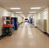 An Ellet High School hallway.