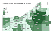 COVID-19 Cases in Cuyahoga County by Zip Code