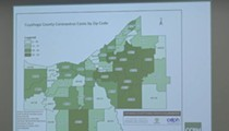 This Week's Updated Map of Cuyahoga County COVID-19 Cases by Zip Code
