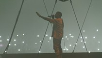Rapper Kanye West Keeps It Tame and Inspirational at the Q