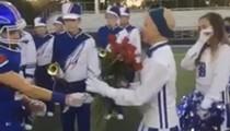 Video: Bay High School Football Team Honors Cheerleader Battling Cancer