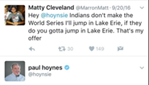 Why Won't Paul Hoynes Jump in Lake Erie and Pay Off His World Series Bet?