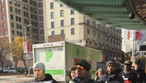 Cleveland Communists Marching Through Playhouse Square on Election Day