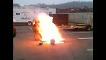 Video: Ohio Firefighters Demonstrate How Deep Frying a Turkey Can Go Wrong