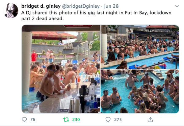 Put In Bay Christmas In July 2020 Twitter Many Put in Bay Visitors Do Not Appear to Give a Shit About Masks