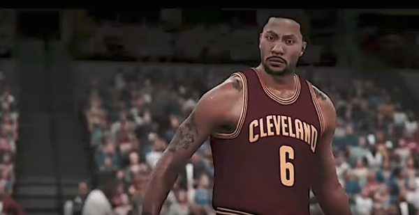 This video game footage of derrick rose is the cruelest - Derrick rose cavs wallpaper ...