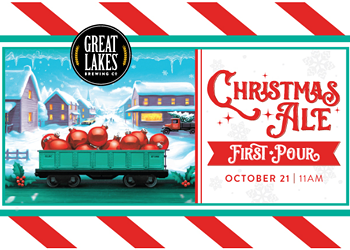 Great Lakes Brewing's Annual Christmas Ale First Pour Celebration Slated for Thursday, October 21 at the Ohio City Brewpub
