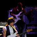 Brian Wilson and Jeff Beck playing at E.J. Thomas Hall