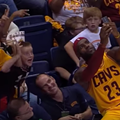 WATCH: LeBron Takes a Selfie with a Kid's Phone During Last Night's Pre-Season Game