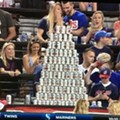 This Gigantic Beer Can Pyramid Was Probably the Best Thing to Happen at Progressive Field Over the Weekend