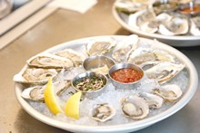 PHOTO BY EMANUEL WALLACE - Oysters on the Half Shell