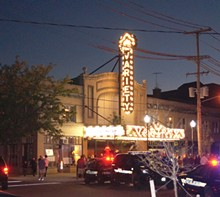 PHOTO BY SAM ALLARD - The Variety marquee lights up the night.