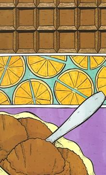"K. Sekelsky's ""Chocolate Orange Sorbet"""