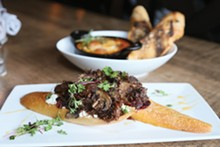 PHOTO BY EMANUEL WALLACE - Beef Cheek Toasts