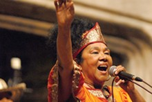 PHOTO BY KEVIN CLIFFORD - Cumbia star Totó la Momposina performs at Ohio City Stages. See: Wednesday.