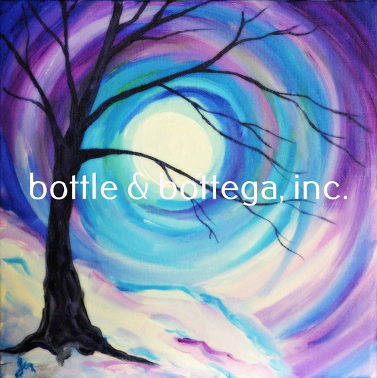 Tgif paint sip party bottle bottega creative space for Paint and sip cleveland