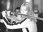 Uma Thurman performs prodigies of evisceration in - Kill Bill.