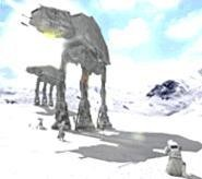 Unfortunately, Jar Jar doesn't get stomped by the gigantic - steel legs of the AT-ATs in Star Wars Battlefront II. - Maybe next game?