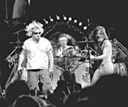 Van Halen, rocking out at Gund Arena, July 2. - WALTER  NOVAK