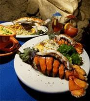 Vhooda's lobster bisque (left) keeps the gods smiling. - WALTER  NOVAK