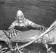 What you lookin' at? The Creature From the Black - Lagoon surfaces -- in glorious 3-D! --  at the - Cinematheque on Friday.