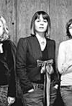 When Sleater-Kinney parted ways with its publicist,      booking agent, and label, uncertainty over the future      inspired The Woods.