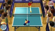 Wii Play's table tennis: Like Pong with spectators.