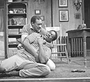Wiley Moore (left) and Johnny Lee Davenport play - embattled stepbrothers in Forest City.