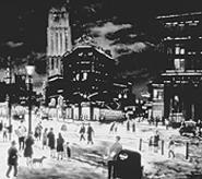 """Winter Evening,"" by Raphael Gleitsmann, oil on fiberboard."