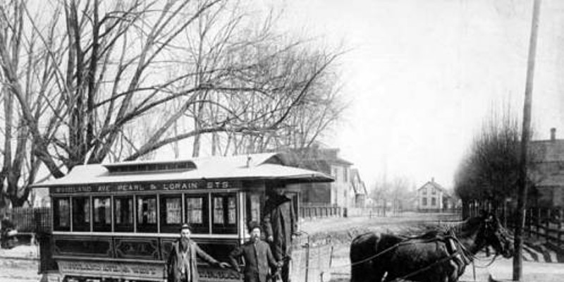 20 Photos of Old Cleveland Streetcars Woodland Avenue and West Side Street, circa 1900 Cleveland Memory Project